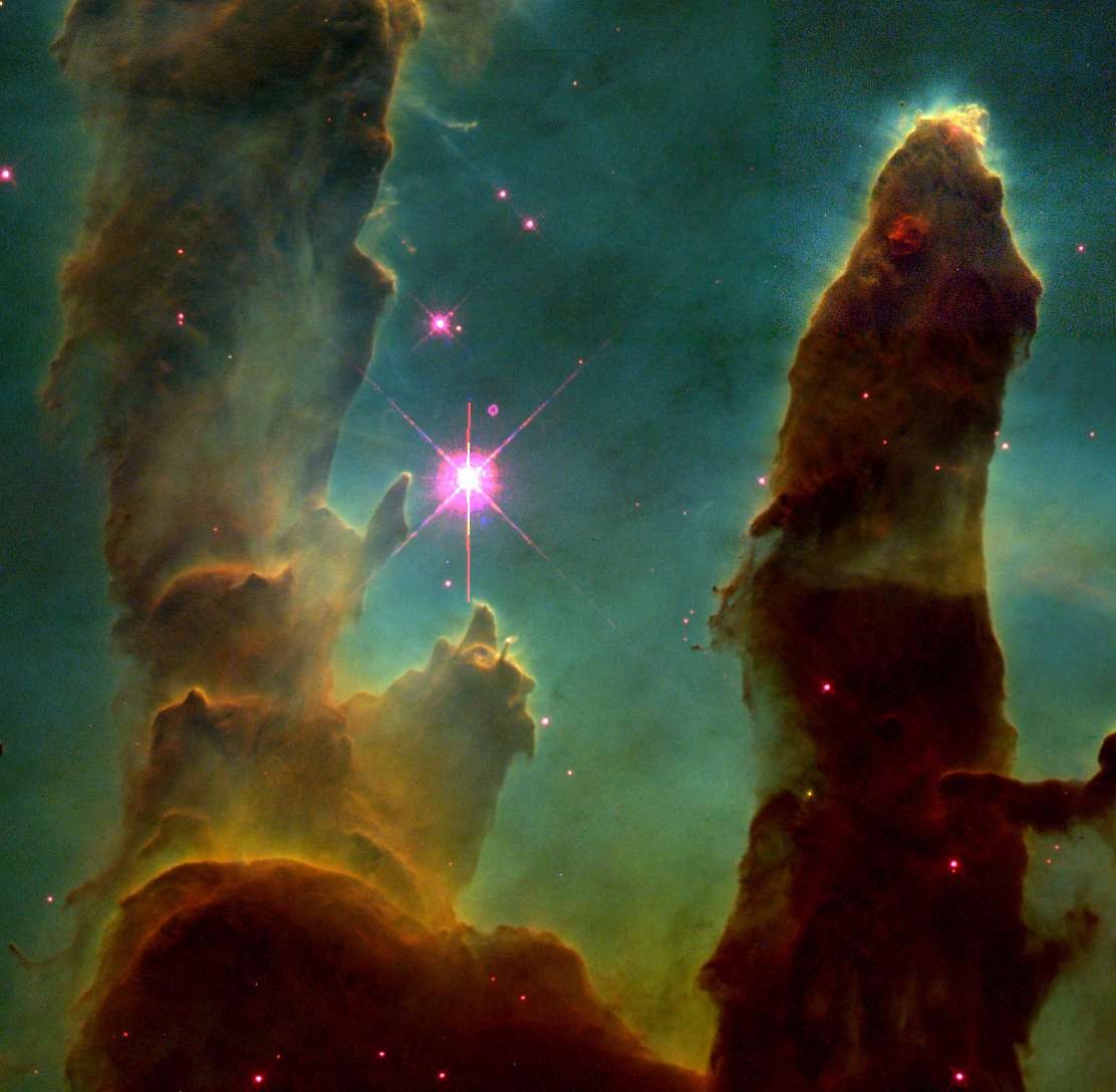 eagle nebula1 Its a Mystery!   Simulacrum in Eagle Nebula