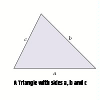 A Triangle with sides a, b, c